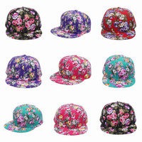 Wholesale New Women Snapbacks Hats Cotton Ball Caps Outdoor Sports Hat With Beautiful Flower Ornament EEG