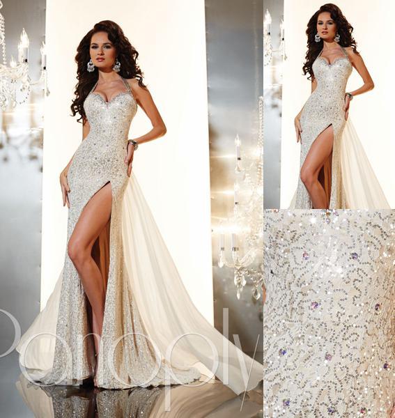 Silver And White Prom Dresses - Ocodea.com
