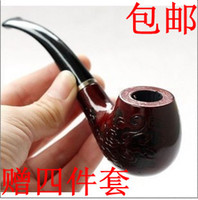 other Curved China Explosion models selling entry-level beginner Smoking pipe carved wood gifts to share briar buy one get 4 free shipping