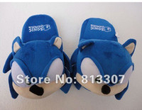 Wholesale Sonic slippers blue Plush Doll inch Adult Plush Sonic Slipper toy