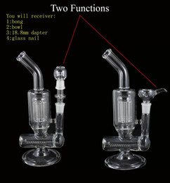 Wholesale 8 Arm Perc Percolator Clear Glass Water Pipes Two Function Bubbler Glass Oil Rig Glass Bong Factory Price