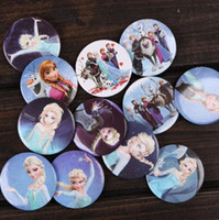 Wholesale frozen badges children button pin badge cm Anna Elsa princess Olaf costume cosplay baby toy fashion badges present brooches card
