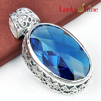 Free shipping - - - 925 sterling silver plated pendant necklace...