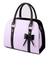 Wholesale New Sweet Ladies Candy Color Bowknot Shoulder Bag Cross body Handbag