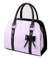 Wholesale New Sweet Ladies Candy Color Bowknot Shoulder Bag Cross body Handbag