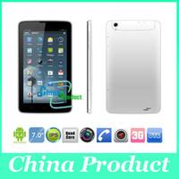 Phablet 7 pouces MTK8382 quad core pc tablette double SIM double caméra 512M / 8G 3G téléphone appel tablet GPS 002390