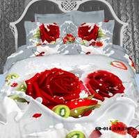 bedding roses - 3D Vivid Milk Roses Comforters Bedding Sets Queen King Size Cotton Fabric Quilt Duvet Cover Flat Fitted Bed Sheet Pillowcase