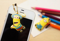 Wholesale Despicable me Anti mm Dust Plug D Cartoon Mini Bean Capsule Earphone Jack Plug Dustproof Ear Caps Pluggy Minions Anti Dust Plug