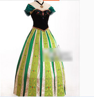Wholesale 2014 Big Girls Outfits Ladies Cosplay Clothing Frozen Princess Anna Adult Coronation Dress M0268