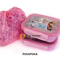 Wholesale frozen Double Layer Children Lunch Box Bento for Kids Portable korean Lunch box Food Container baby school Tablewar J070904