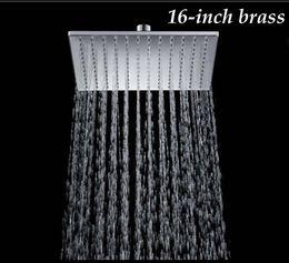 "New Chrome Finish 16"" Solid Brass Shower Head Rainfall Shower Sprayer"