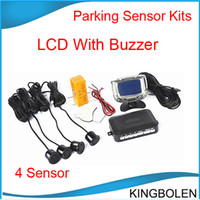 Wholesale Buzzer speaker mm Sensors LCD Screen Car Parking Sensor Kit Car Reverse Backup Radar System with colors