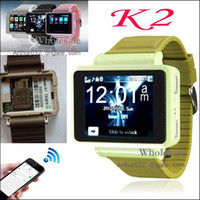 Wholesale High Sales Smart Watch Phone K2 quot Touch Screen Bluetooth Dial Support GPRS FM MP3 MP4 Video with Sim Card Slot Camera