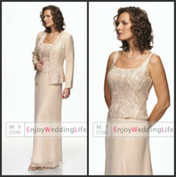 Spaghetti Straps chiffon jacket - 2014 Cheap Chiffon Mother Of The Bride Spaghetti Straps Beaded Evening Gowns With Jacket Mother Of The Groom Party Formal Dresses CPS030