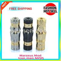 Wholesale Mechanical E Cigarette Stainless steel Black Golden Maraxus mod Iron man MOD chiyou nemesis King MOD for battery one sale