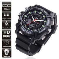 8G 8G Built-in 8GB Wholesale - - Promotion! 8GB Waterproof 1080P IR Spy Watch DVR with Rubber Bracelet A Attractive Wrist Watch with Full HD Pinhole Camera