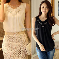 Women Polyester Regular 2014 Summer Shirt Crop Top Clothing Blusas Femininas European Style Golden Sequin Sleeveless Chiffon s For Women#3SV004093