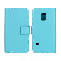Wholesale New Arrive PU Leather Folding Wallet Flip Cover Case for Samsung Galaxy S5 Mini Free Shiipping