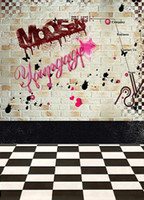 Wholesale 200CM CM Mini baby child photographyGraffiti Young modeen background one hundred days baby photos LK