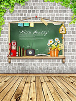Wholesale 200CM CM backgrounds Watch the blackboard writing notices photography backdrops photo LK