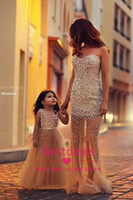 gorgeous gold girls pageant dresses 2014 new arrival V neck ...