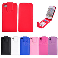 Wholesale For iPhone S Flip Vertical PU Leather Case Cover With Photo Frame ID Credit Card Holder For iPhone4 G