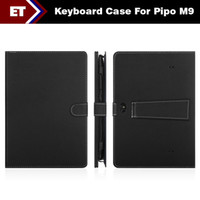 Cheap Special English Keyboard Case For 10 inch PiPo M9 PiPo M9 Pro WiFi 3G Tablet PC Micro USB Color Black