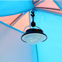 Wholesale New Outdoor Indoor Camping LED Lamp with Lampshade Circle Tent White Light Campsite Hanging Lamp H11102