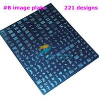 stamping - 2PCS BIG SIZE XXL Stamp Image Plate Stamping Nail Art DIY Image Plate Template Dropshipping
