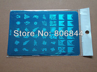 Wholesale BIG Designs XL Stamping Plate Large Stamp Image Plate amp Full Nail Art Stencil Print Metal Template