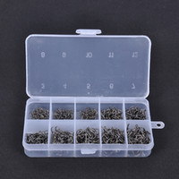 fly fishing tackle - NEW Carbon Steel Fishing Jig Hooks with Hole Fish Fly Fishing Tackle Box Sizes H10968