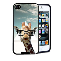 For Apple iPhone apple giraffe - High Quality Animal Hipster Giraffe Geek Glass Hard Plastic Mobile Protective Phone Case Cover For Iphone S S C up