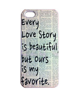 Plastic beautiful stories - Fashion Newspaper Every Love Story Is Beautiful Hard Plastic Mobile Protective Phone Case Cover For Iphone S S C up