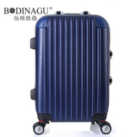 Wholesale BODINAGU Trolley case of universal wheel suitcase boarding bag business bag case size inches six colors on sale