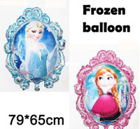 Cartoon aluminum foil - Fashion Hot cm Frozen balloon Toys for birthday party Princess frozen Elsa anna Aluminum foil cartoon Mirror balloons