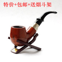 other Curved China Father's Day gift free shipping brand handmade wooden pipe bakelite wood gifts to send briar pipe rack