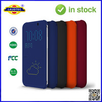 Wholesale For HTC Dot View Case Cover For HTC ONE M8 HC M100 GENUINE OFFICIAL Laudtec