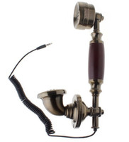 Wholesale 2014 new fashion Handset Microphone WX Antique Radiation Proof Handset Microphone mm plug coiled cable