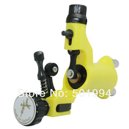 Wholesale New Yellow10 Wrap Coils Tattoo Dragonfly Machine Shader and Liner Works tattoo amp body art