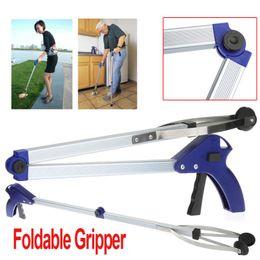 Wholesale Foldable Pick Up Grabber Gripper Reacher Kitchen Litter Reaching Picker Help Hand Tool H9142