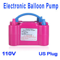 balloon pump - Electronic Balloon Air Pump Double Blowhole Inflator for Wedding Party Promotion Activity Decoration V US Plug H9708