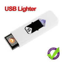 wholesale electronic lots - Electronic USB Cigar Cigarette Lighter Rechargeable Flameless H8589