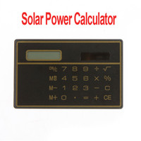 small wholesale lots - 10pcs Digits Solar Power Thin Mini Small Card Style Calculator H1323B