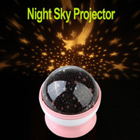 Wholesale Best Gift New Room Night Light Lamp Rotary Flashing Starry Star Moon Sky Cosmos Projector H9109
