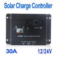 solar panel regulator - 30A V Solar Panel Battery Charge Controller Regulator Temperature Compensation Light H9754