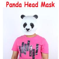 Wholesale Cute Panda Animal Head Mask Halloween Costume Party Christmas Theater Prop Latex H9684
