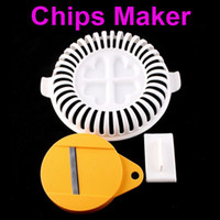 Wholesale Portable Cooking Cook Healthy Microwave DIY Potato Chips Maker Home H1592