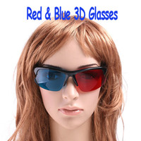 Wholesale Red and Blue D Glasses for anaglyphic Movie DVD Game D moive game TV video glasses dropshipping H4701