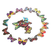 Wholesale 7cm D Artificial Butterfly Pin Clip Double Wing for Home Christmas Wedding Decoration H9936