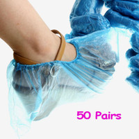 Wholesale Disposable Plastic Shoe Covers Carpet Cleaning Overshoe packs H8707